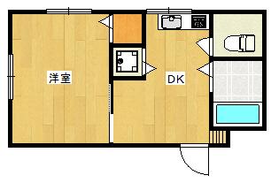 アンジェCHIYO203号室