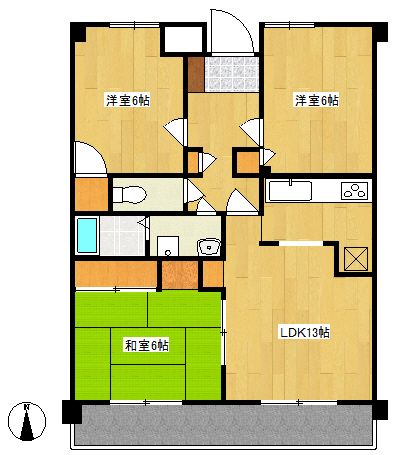 サンステ百道403号室